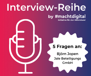 """Interview-Reihe """"5 Fragen an…"""": Björn Jopen von Jale Beteiligungs GmbH"""