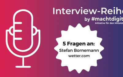 """Interview-Reihe """"5 Fragen an…"""": Stefan Bornemann von wetter.com"""