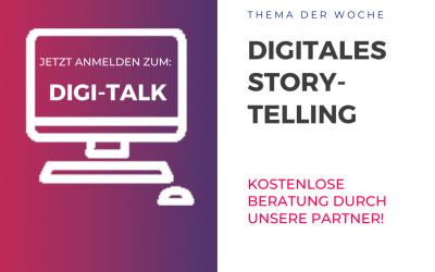 Thema Nr. 4 beim Digi-Talk: Storytelling